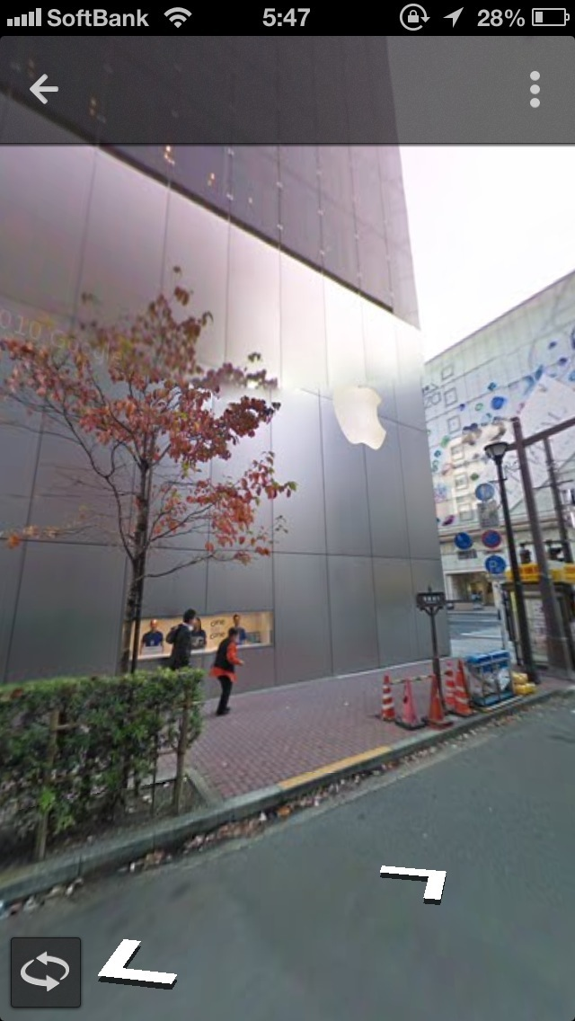 Googleマップのストリートビューが表示されました!