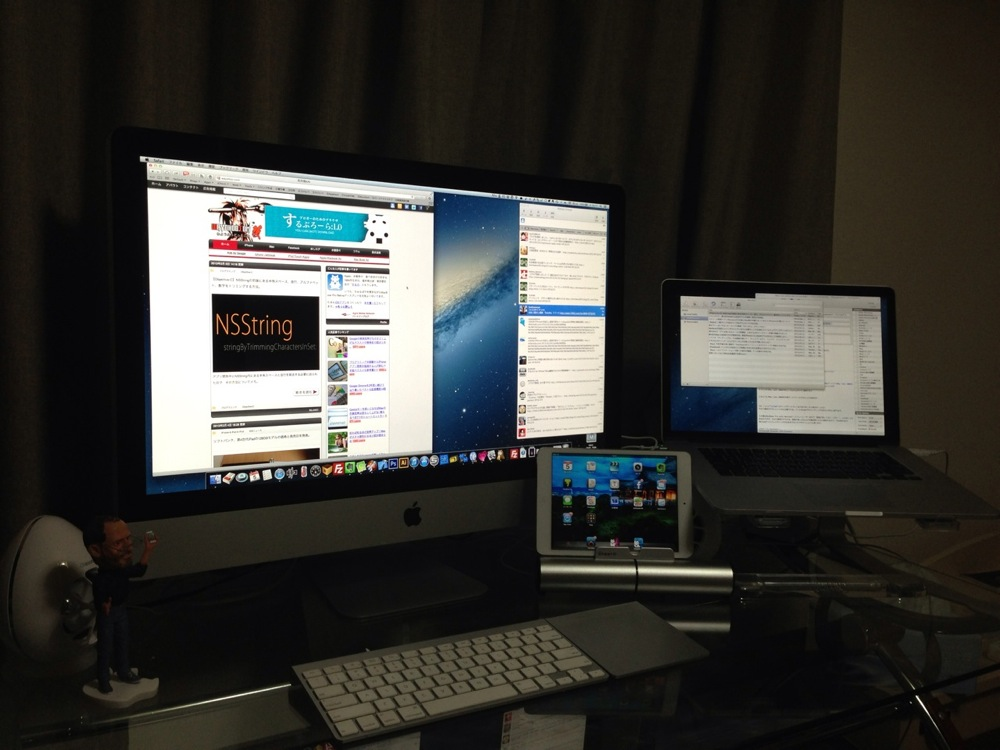 iMac late 2009を外部モニタにしている図