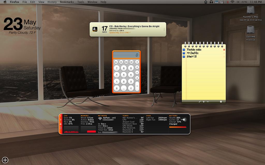 MacのDashboard