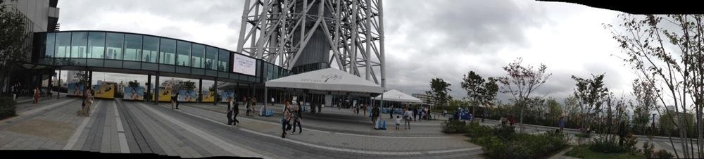東京スカイツリーのそらまちのパノラマ写真