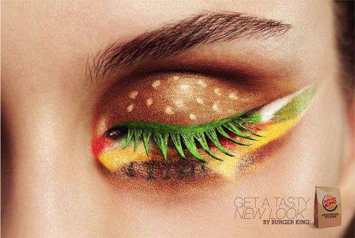 Burger eye makeup