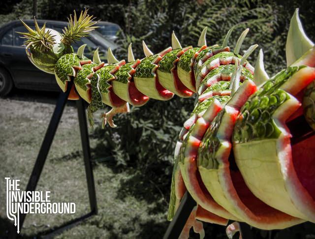 Dragon food sculpture 3