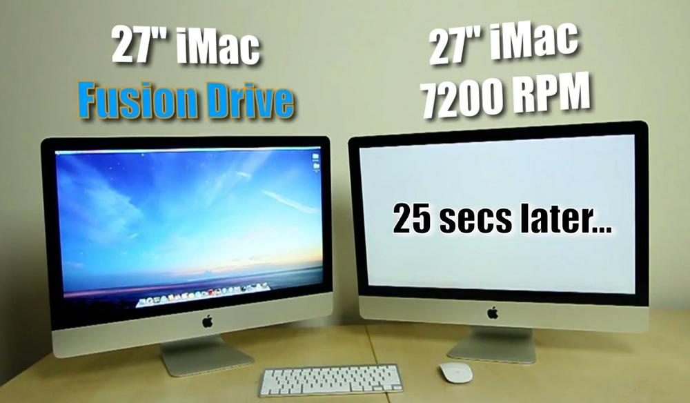 Fusion driveの起動速度はHDDよりも25秒速い