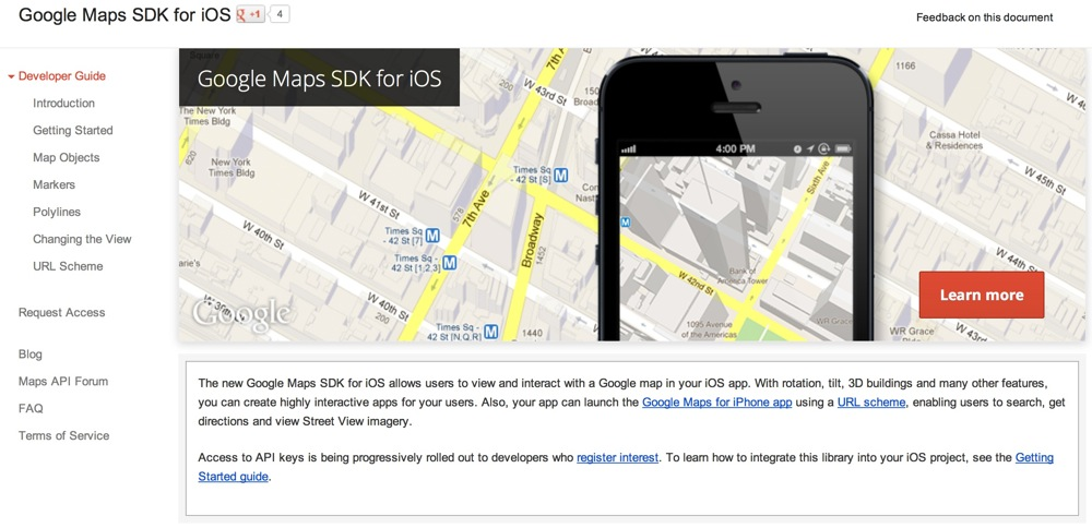 Google maps sdk for ios title