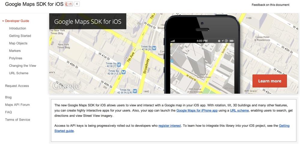 Google maps sdk for ios title