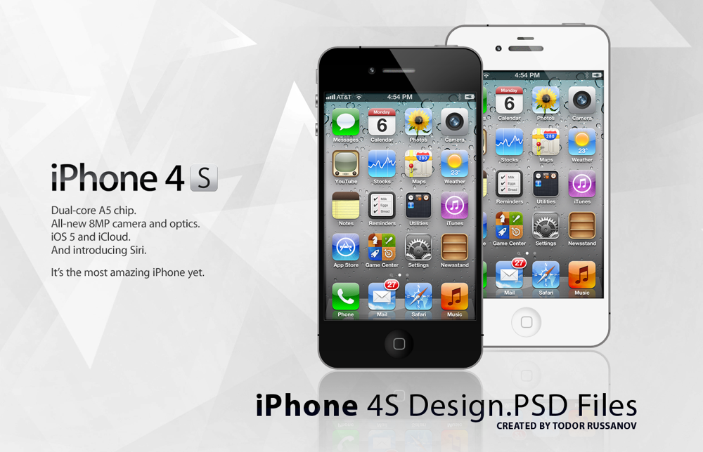 Iphone 4s psd file by russanov d4h57ce
