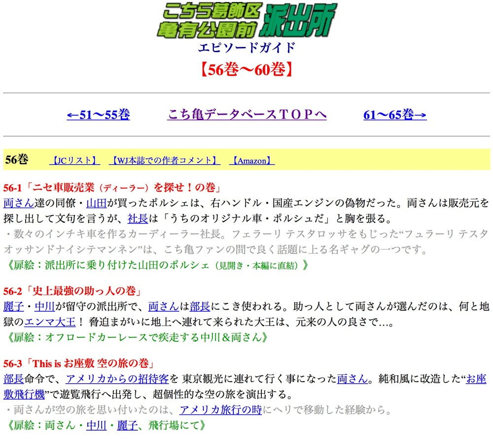 Kochikame episode guide detail