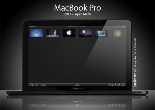 Liquidmetal macbook pro mockup