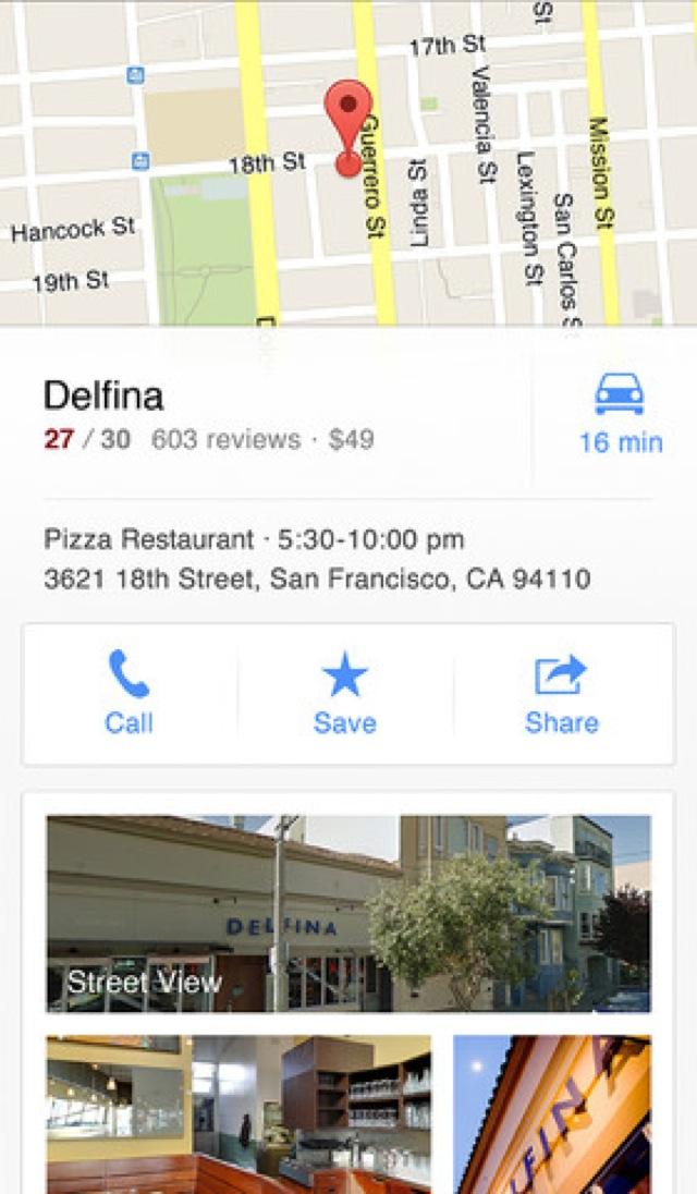 Googleマップ for iPhone