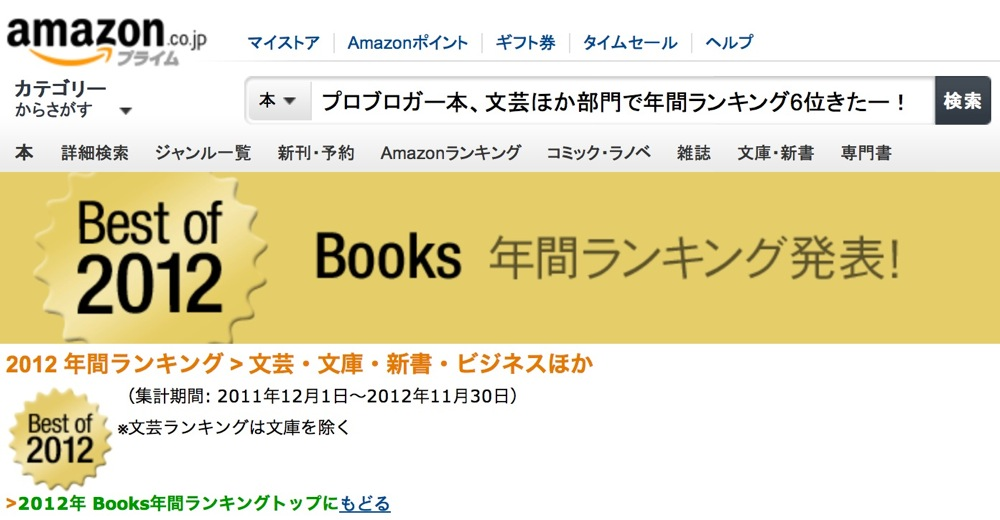 Problogger books amazon ranking mark6