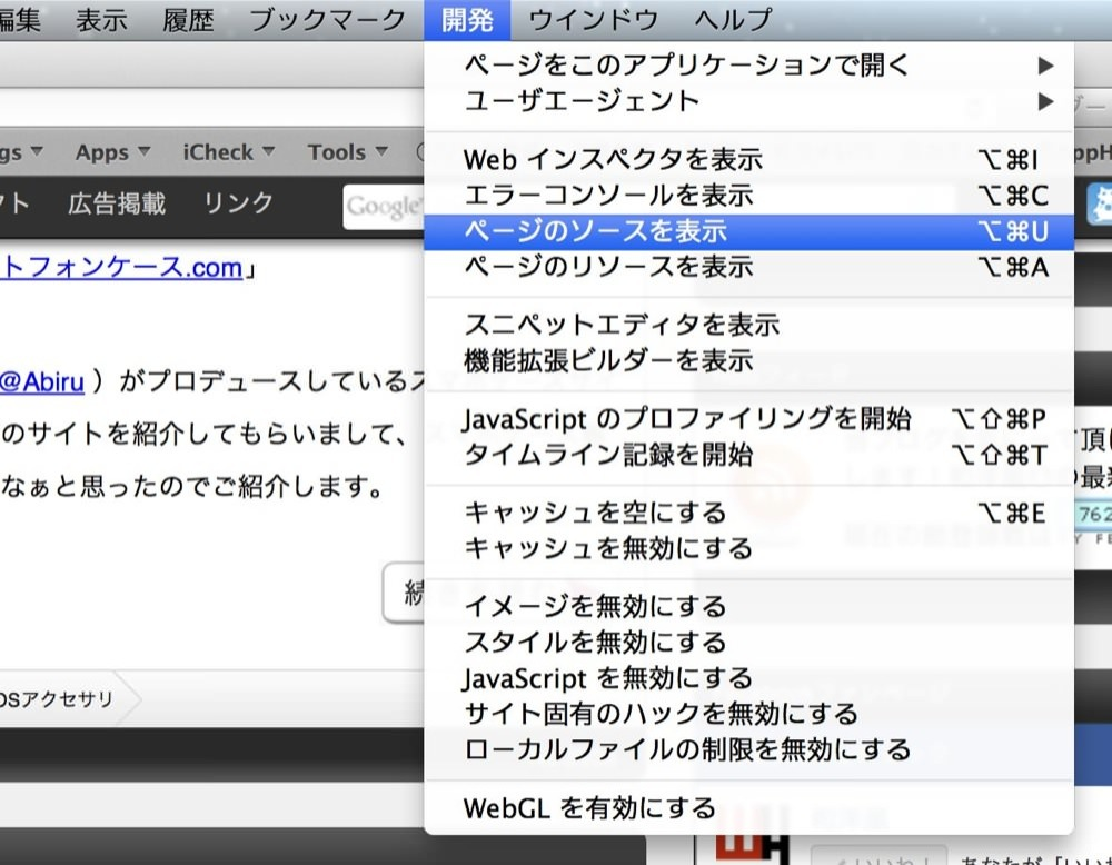 Safari source code view 03