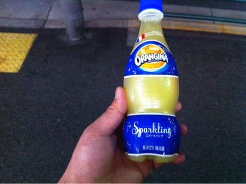 おっしゃー!フランスのオレンジジュース「ORANGINA(オランジーナ)」飲んでみたぜ!オラー!