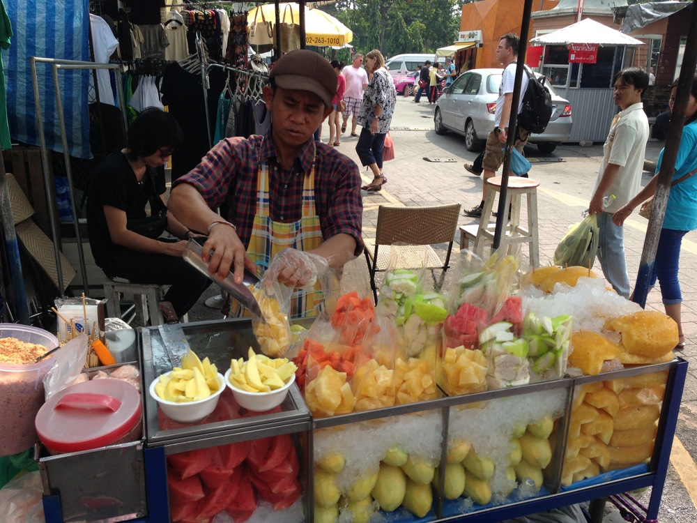 Week end market in bangkok thailand 15