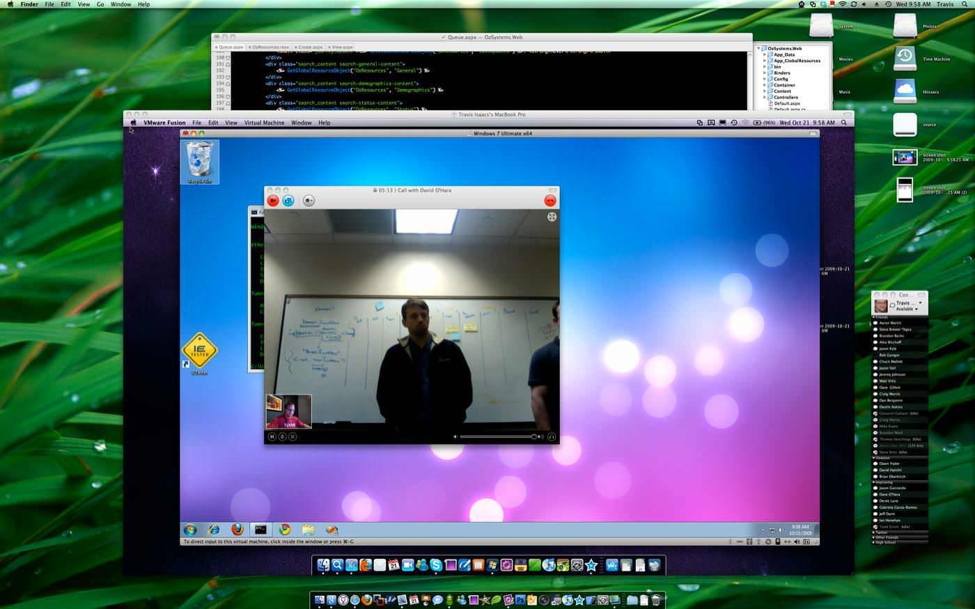 VMware Fusion起動中。