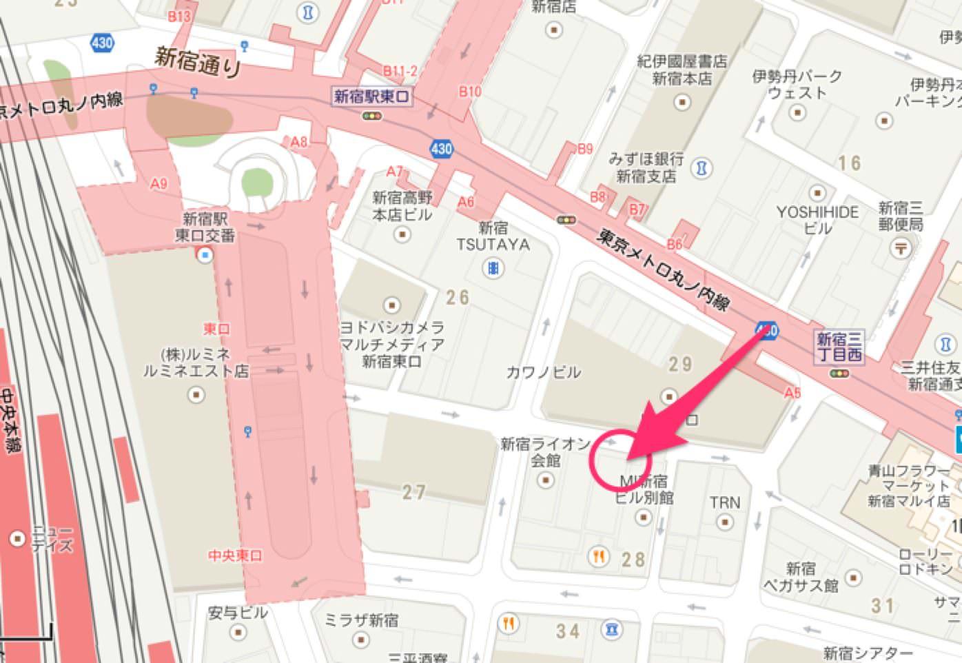 AppBank Storeへいくためのマップ