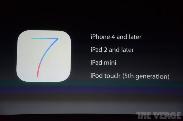 iOS 7の対応機種