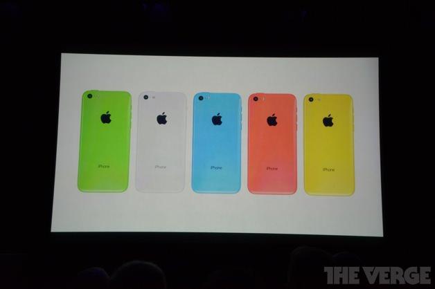 5色のカラーバリエーションをもつiPhone 5c