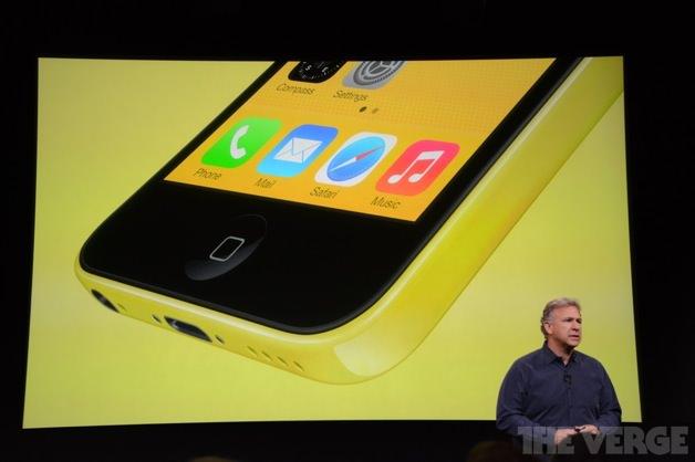 黄色のiPhone 5c