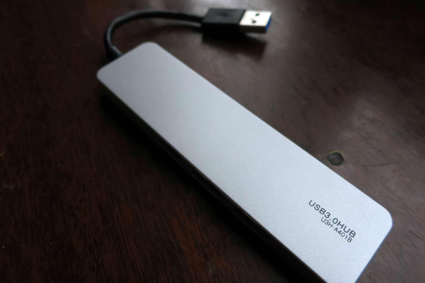Elecom USB3.0対応ハブ u3h a401bsv 06