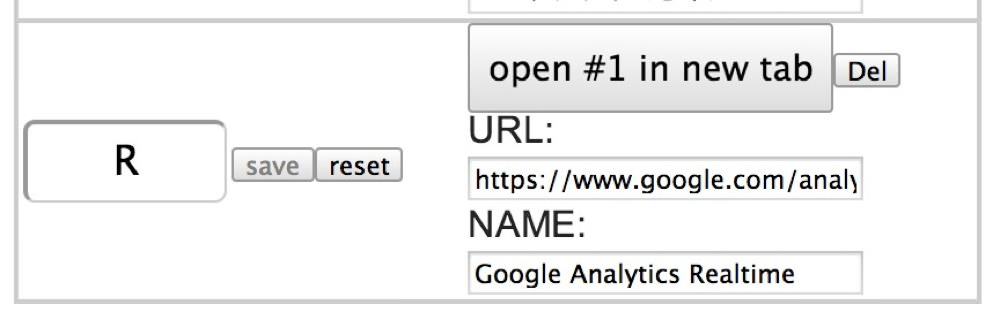 Google analytics keyconfig setting