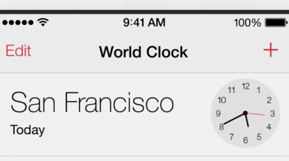 iOS 7のカレンダー