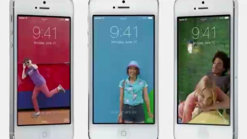 iOS 7のロック画面