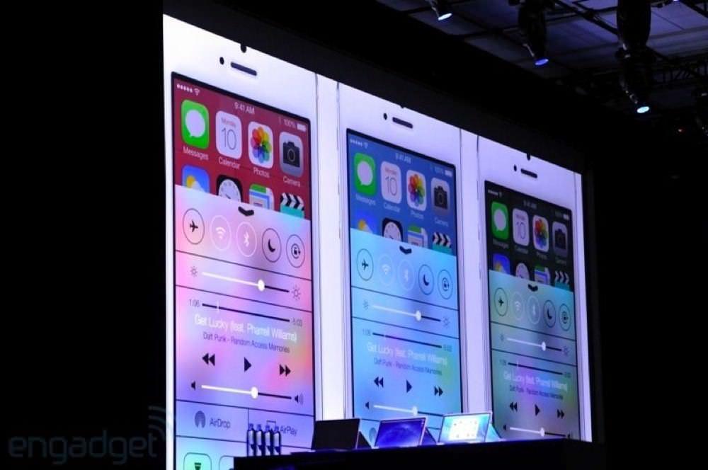 iOS 7 in wwdc 2013