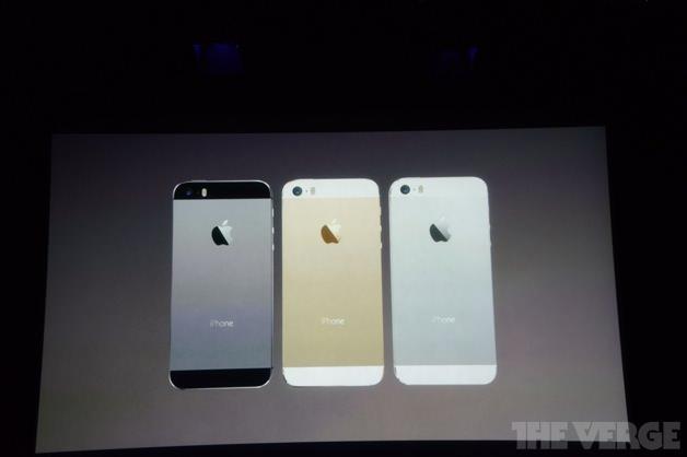 iPhone 5sのカラーバリエーション