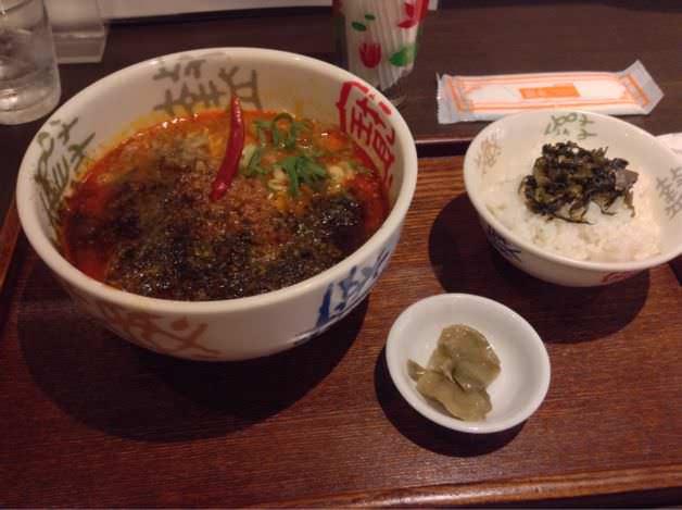 青鬼・担々麺セット