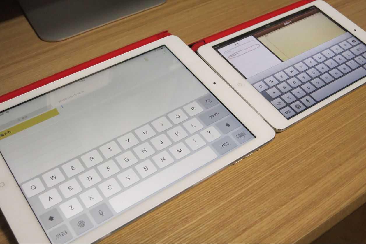 iPad AirとiPad  mini