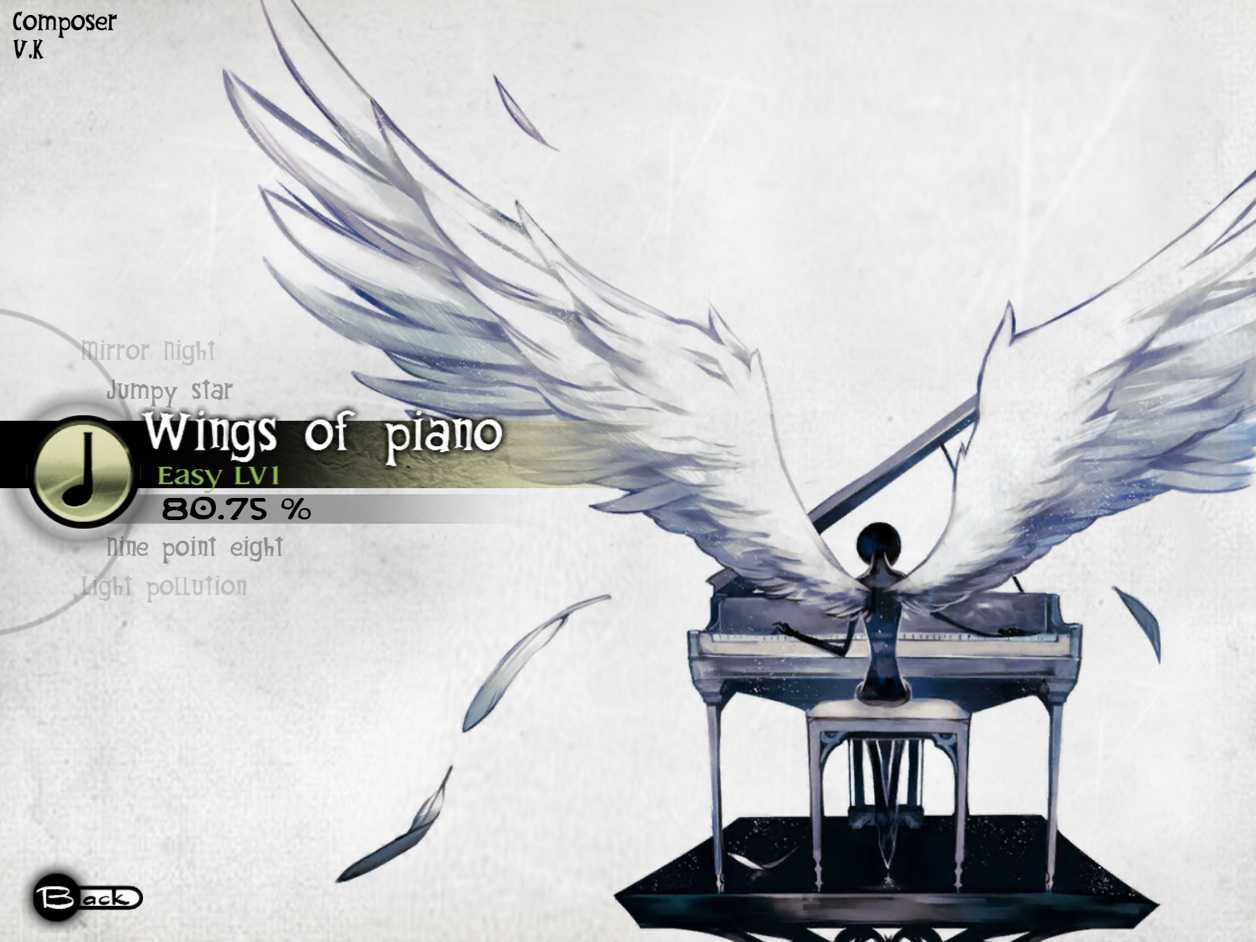Wings of piano