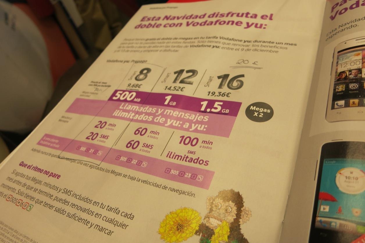 Spain vodafone prepaid sim 2