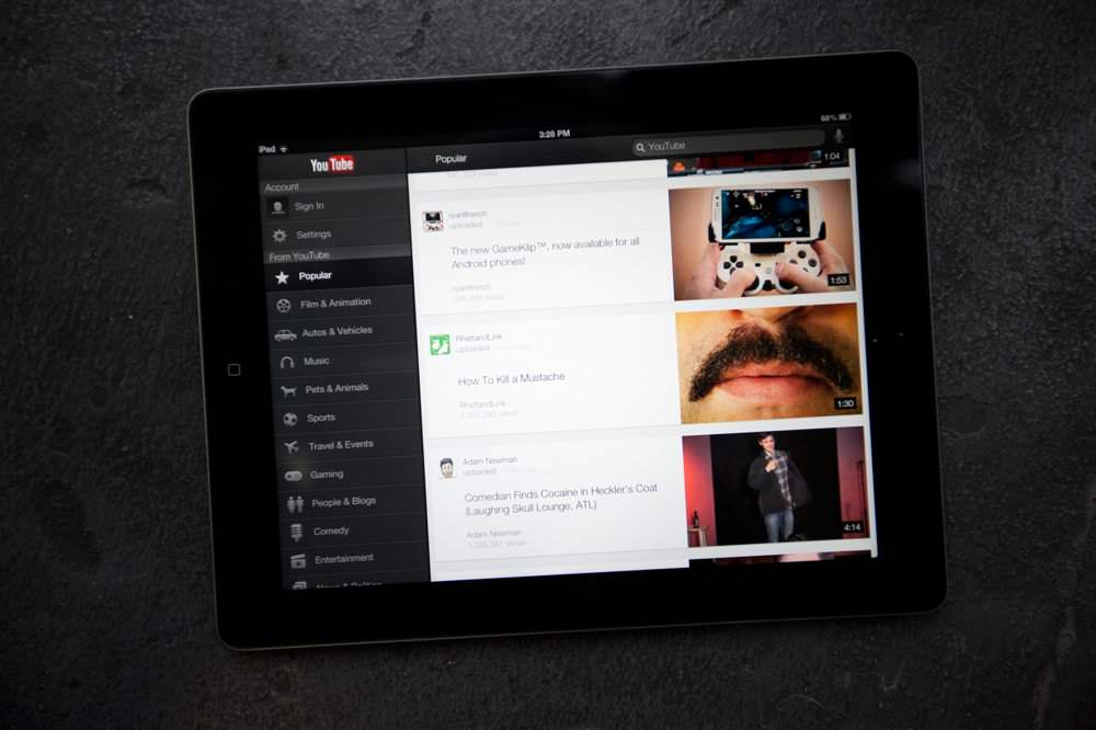 YouTube for iPad