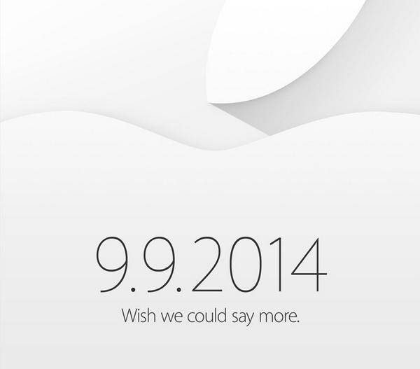 【速報】Appleが公式に2014年9月9日にスペシャルイベントを行うと発表。