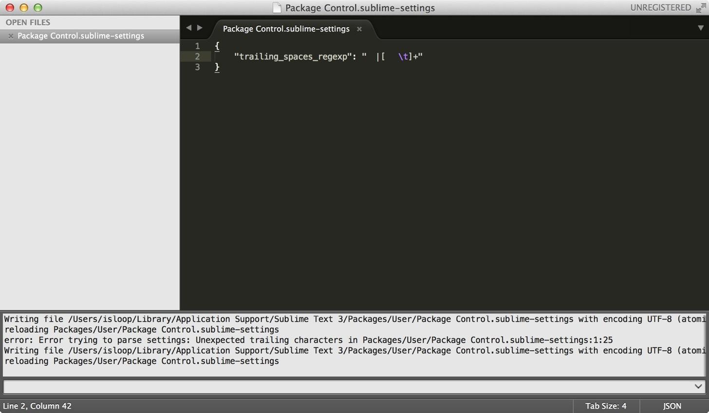 Sublime Text上で全角スペースをハイライトにするコード