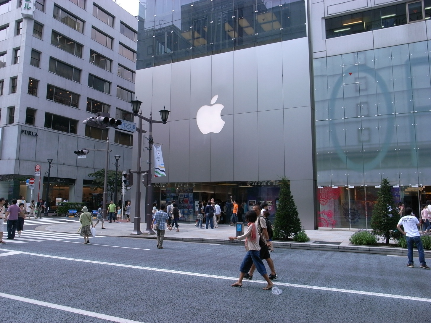 Apple store ginza gyouretu mou nai