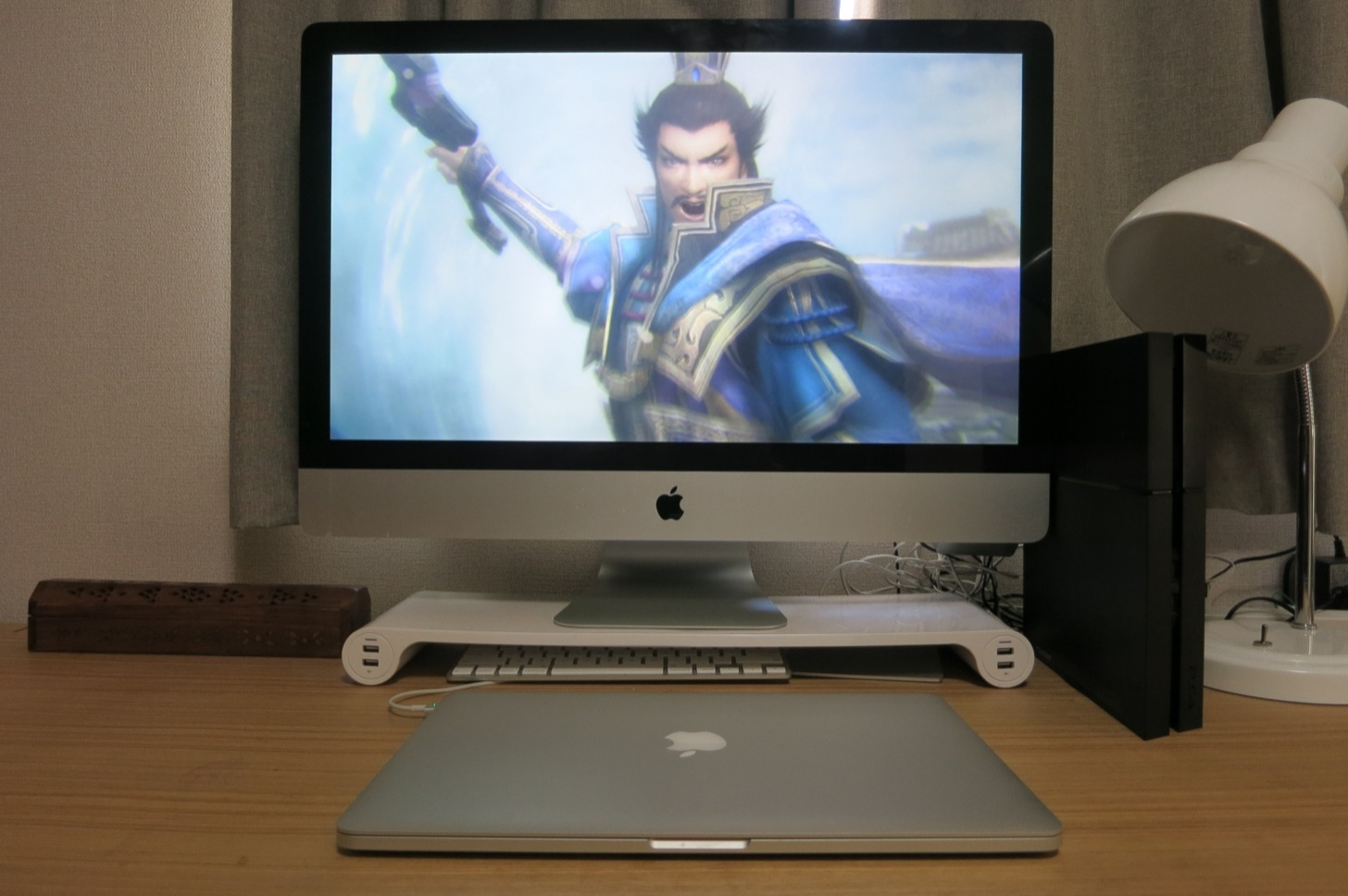 PS4のゲーム真三國無双7がiMac上で動いている!