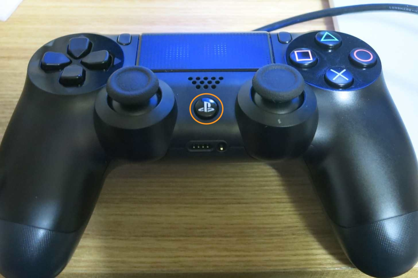 PS4のコントローラーのPSボタン