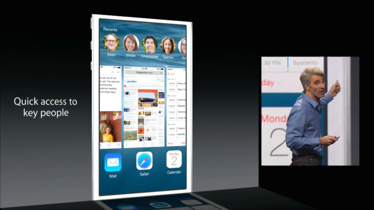 iOS8はマルチタスク画面が進化しました。
