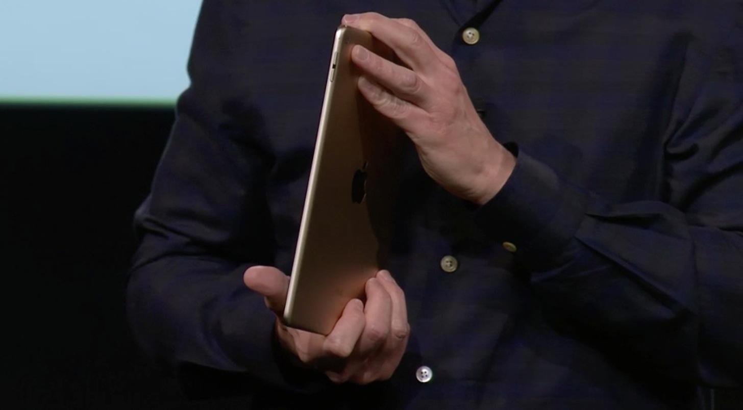 iPad Air 2はゴールド色もあります。
