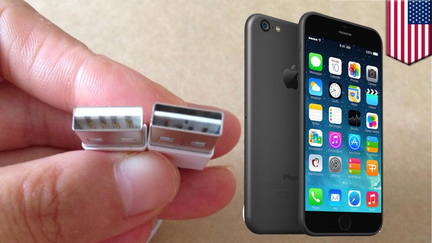 iPhone 6のリバーシブルUSBケーブル