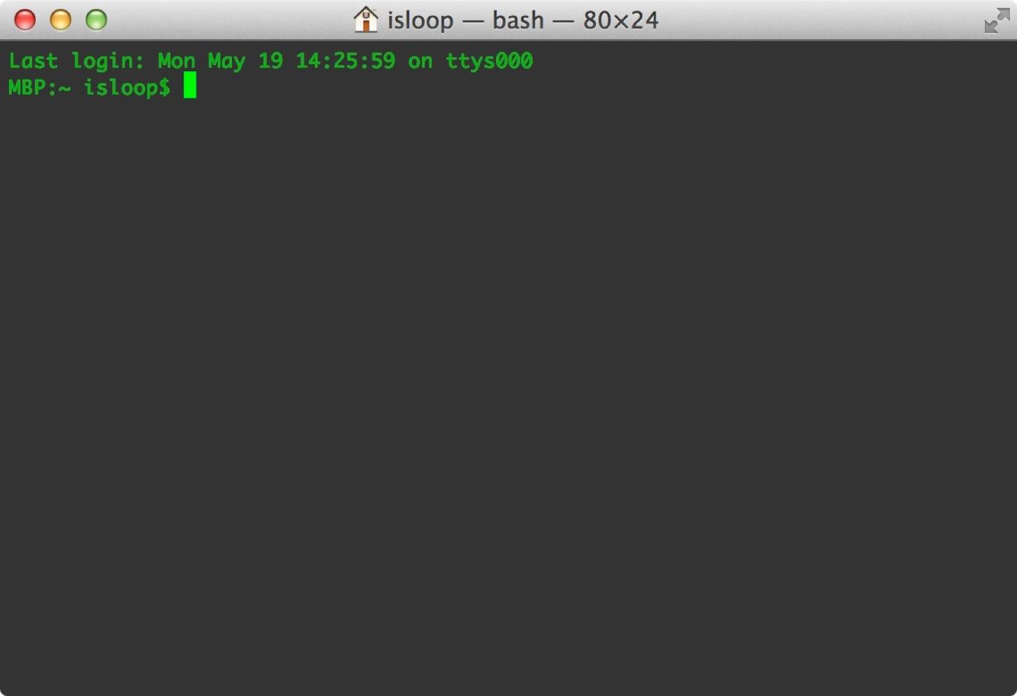 Macのターミナルを起動