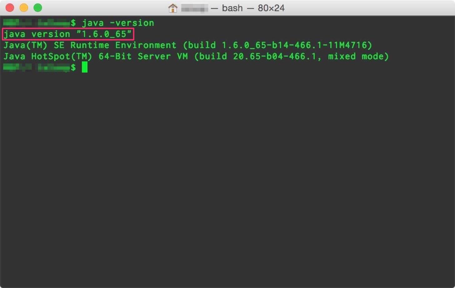 OS XのJAVAのバージョンの確認