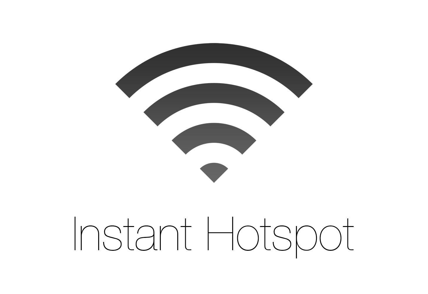 OS X Yosemite - Instant Hotspot