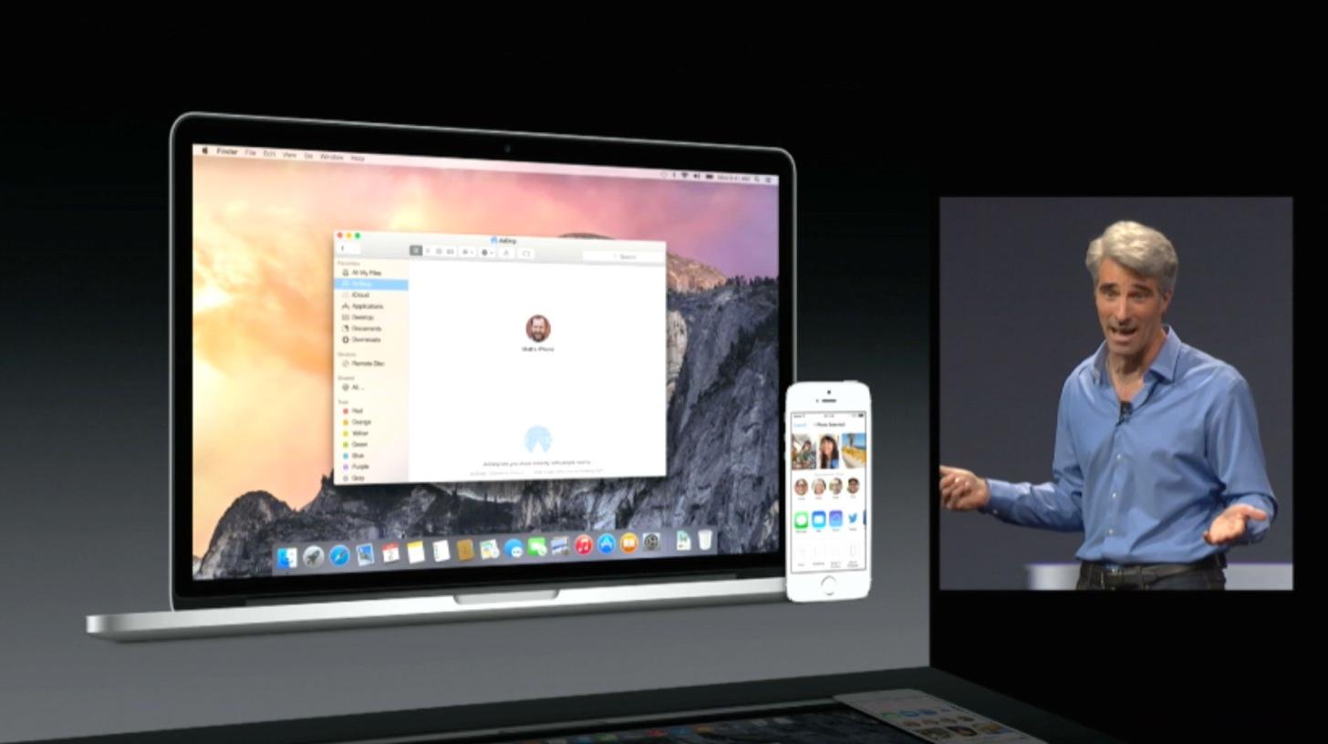AirDropがついにiOS、Mac間の通信が可能に。