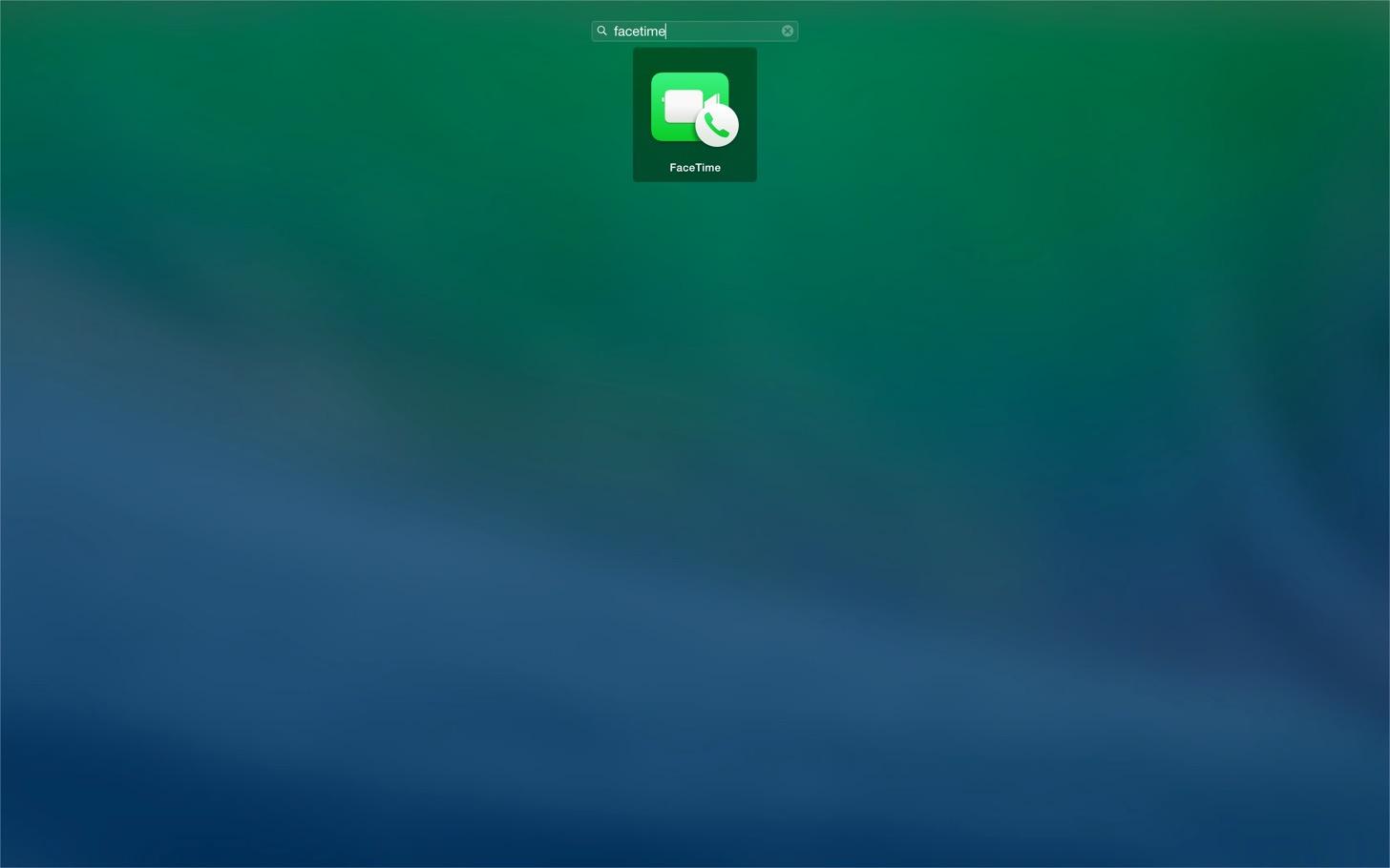 OS X YosemiteのFaceTimeを起動