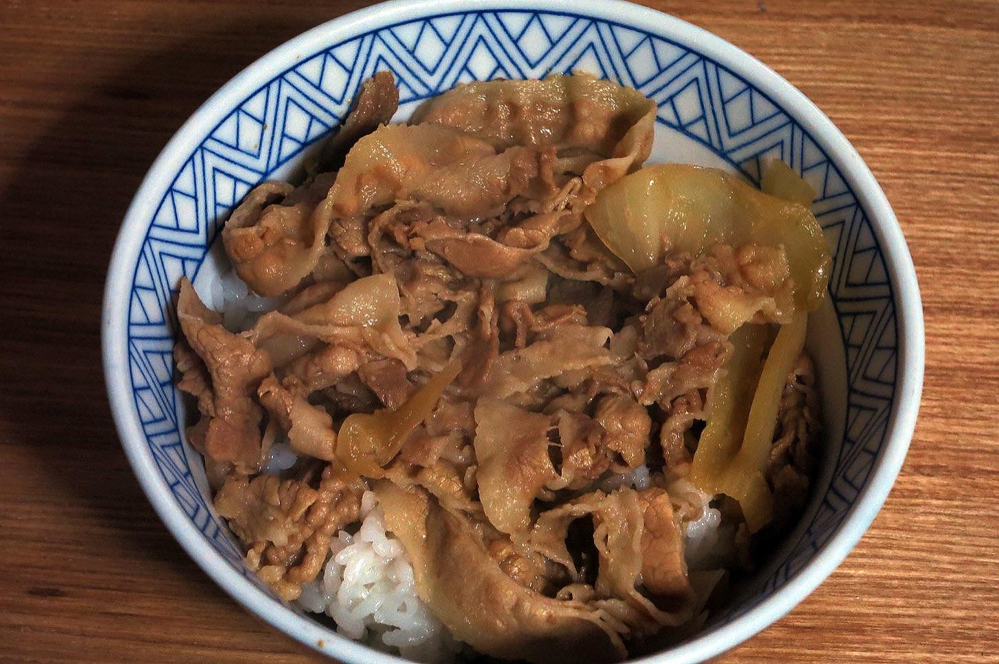 吉野家の豚丼2