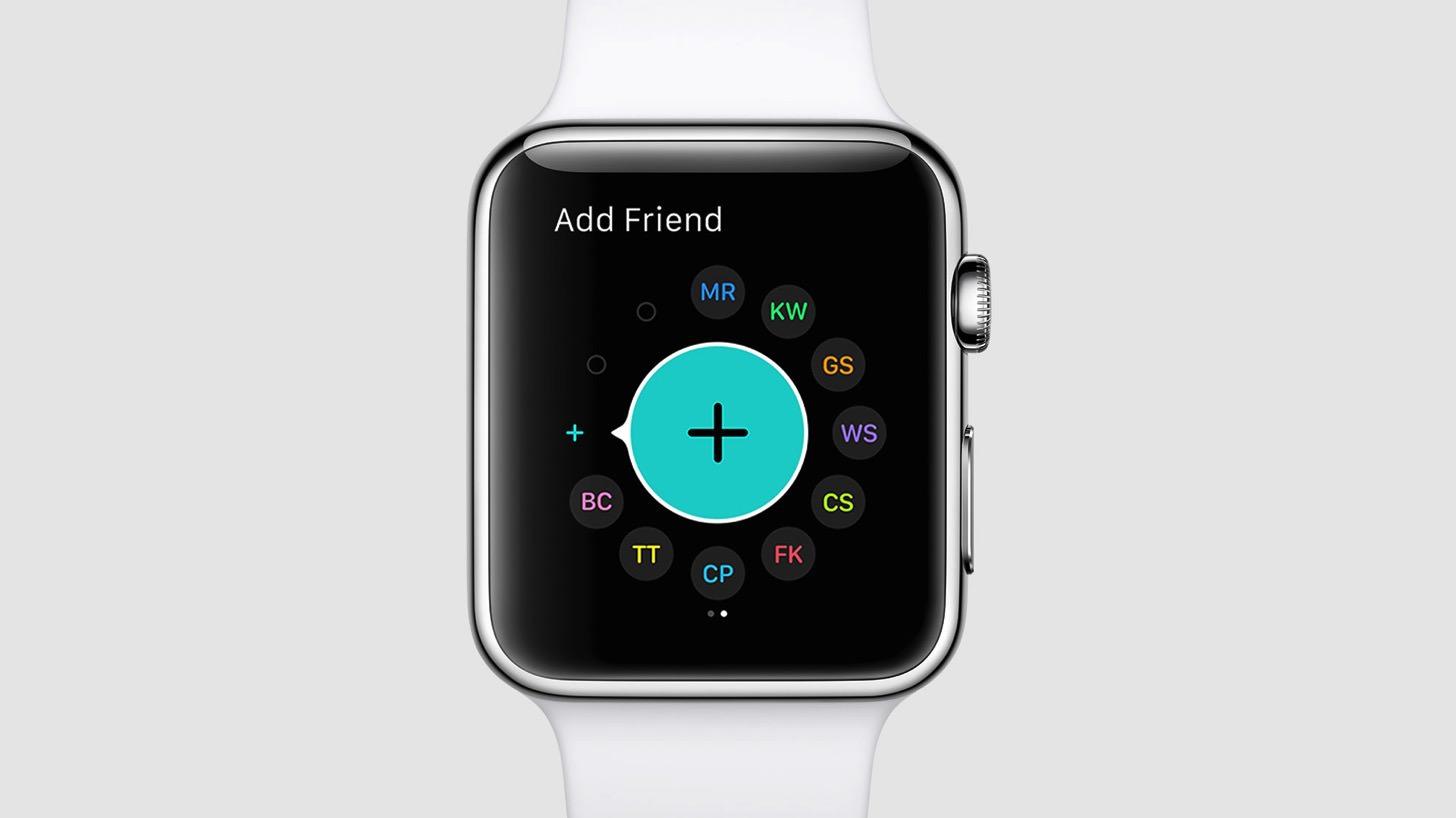 watchOS 2はより沢山の友達を追加できます。