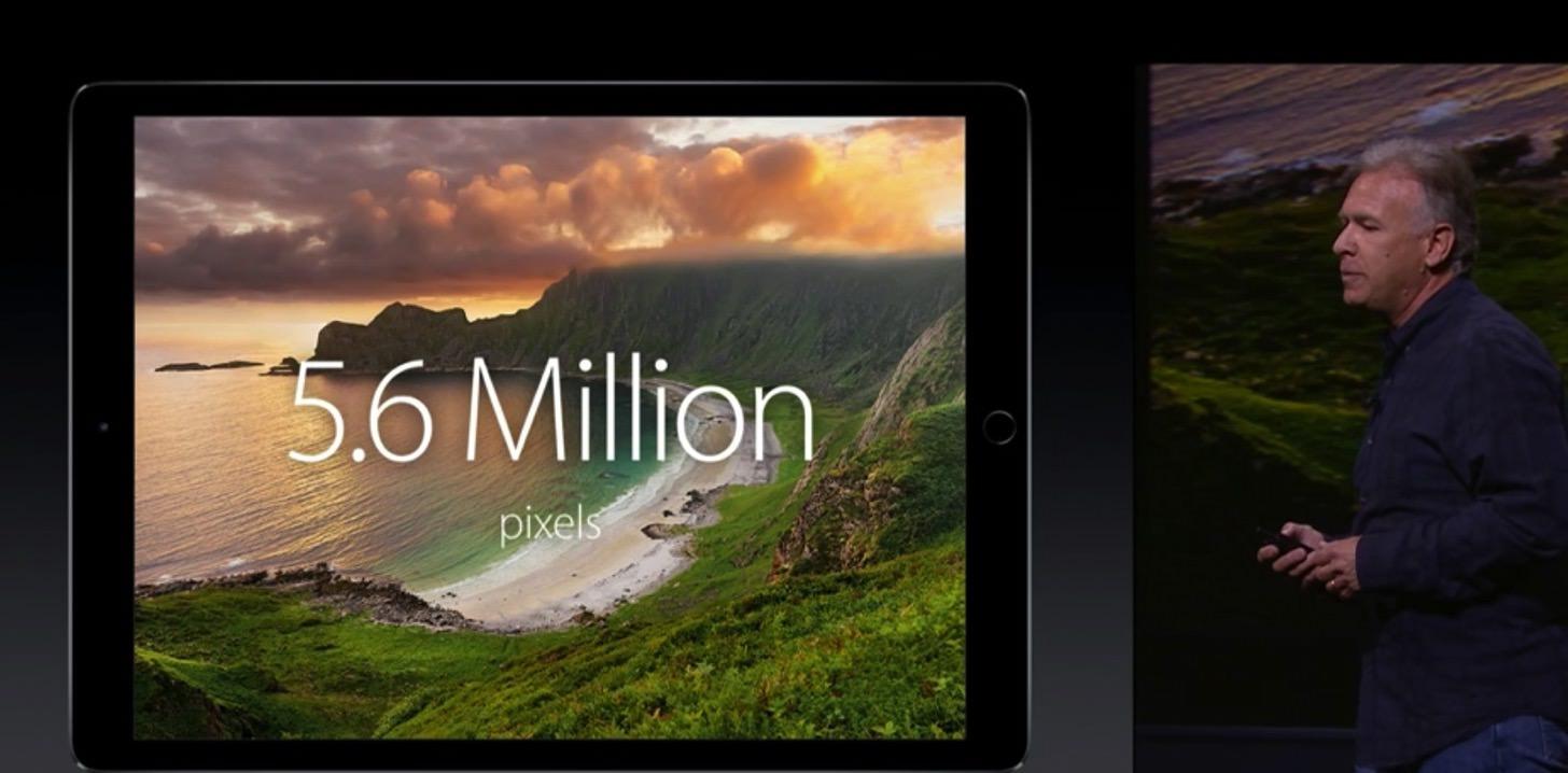 なんとiPad Proの解像度は5.6million