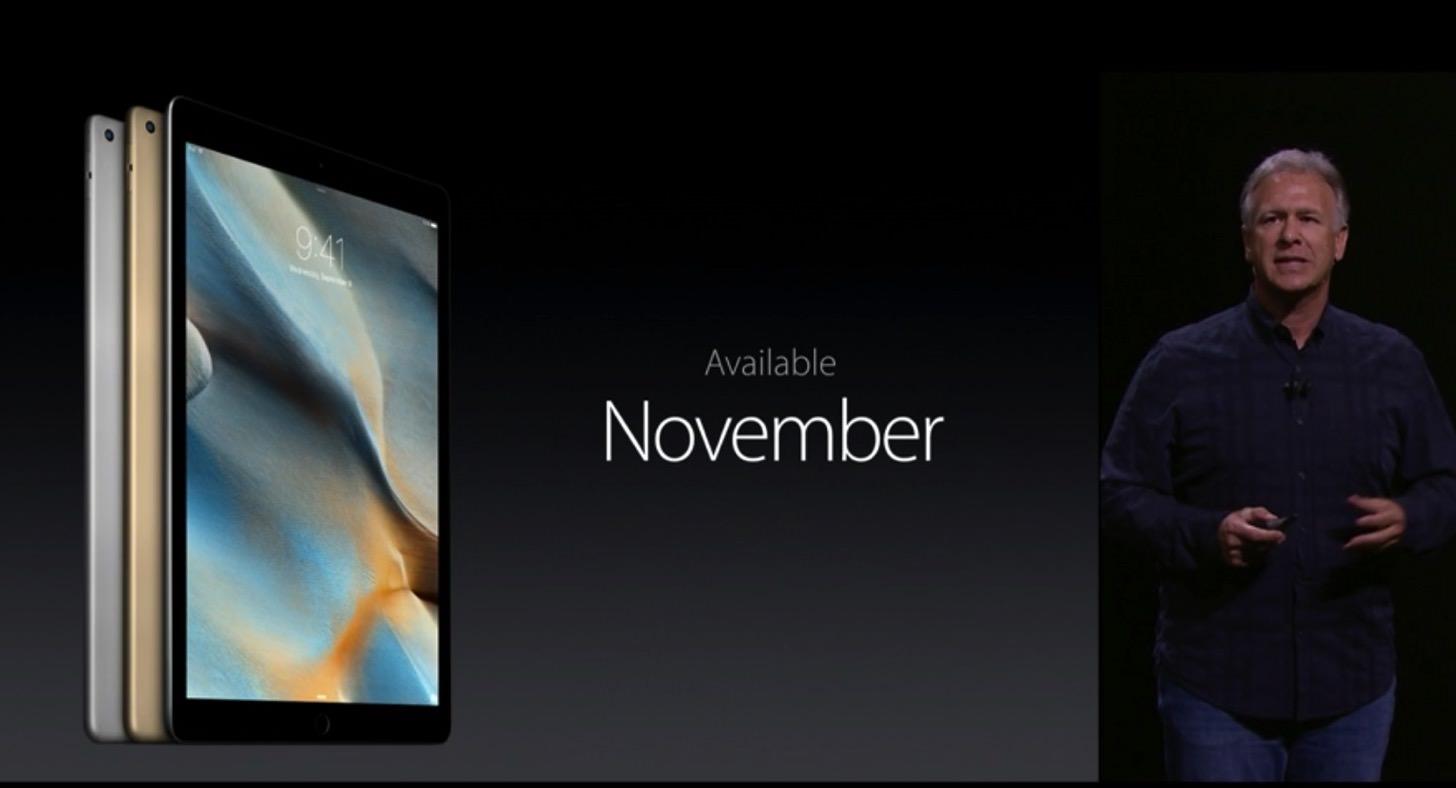 iPad Proの発売日
